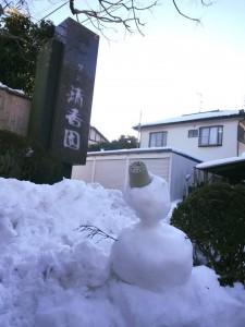 雪だるまさんのお出迎えです