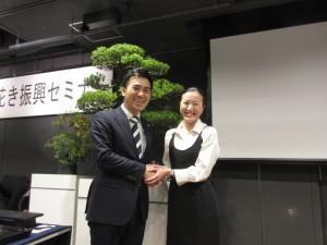 矢倉克夫農林水産政務官と。 盆栽の今後の発展、海外での人気に期待を寄せていると激励をいただきました!