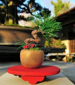 美術の先生でもある教頭先生お手製の、針金で作られた彩花盆栽の置物です!そっくりです!!